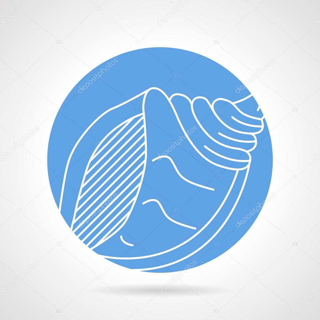 Blue vector icon for sea shell stock vector yershovoleksandr1 abstract blue round vector icon with white line vector by yershovoleksandr1 biocorpaavc Choice Image