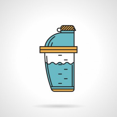Shaker bottle flat design vector icon