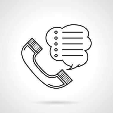 Order by phone black line vector icon