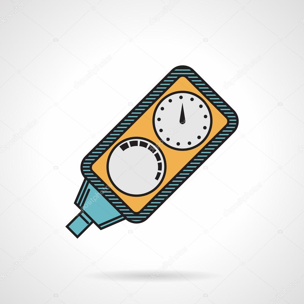 Diving console flat color vector icon