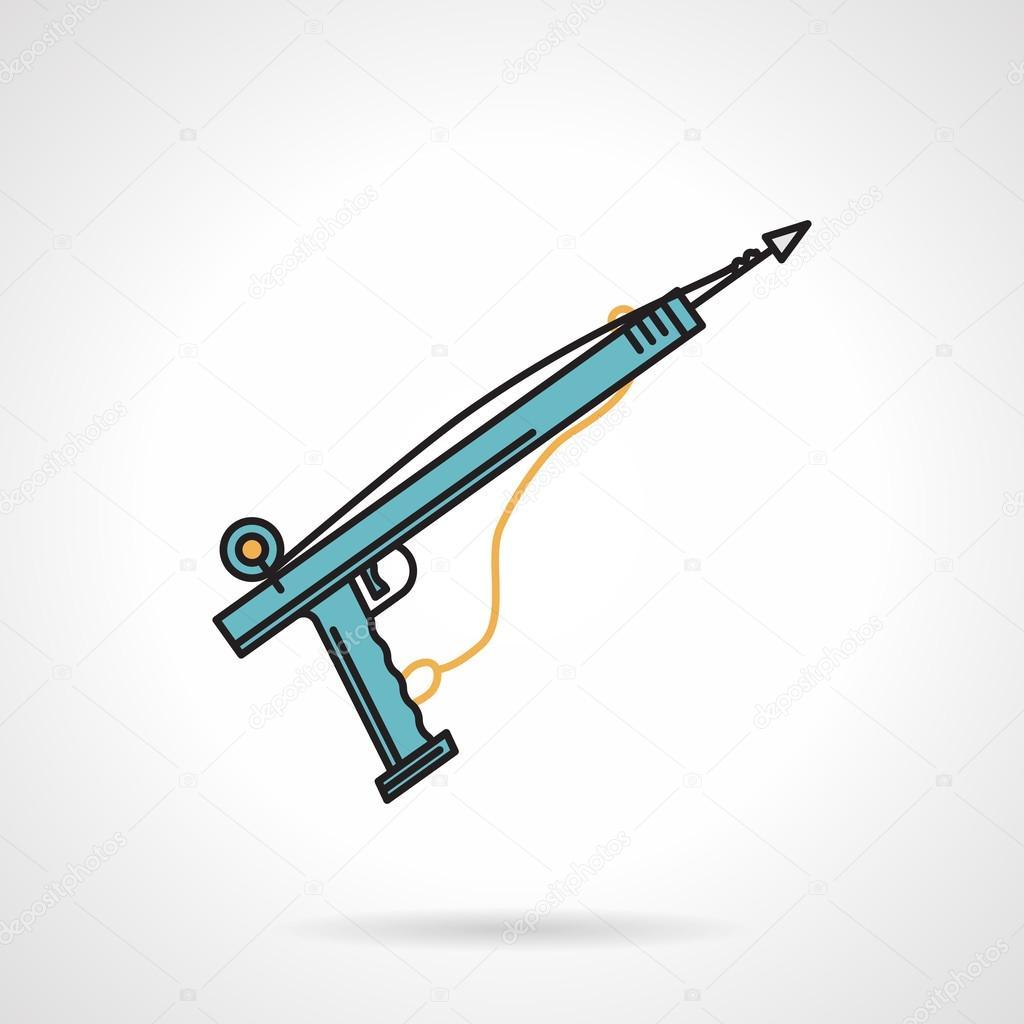 Harpoon flat color vector icon