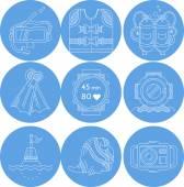 Raccolta di vettore icone di sport di immersione