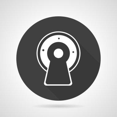 MRI black round vector icon