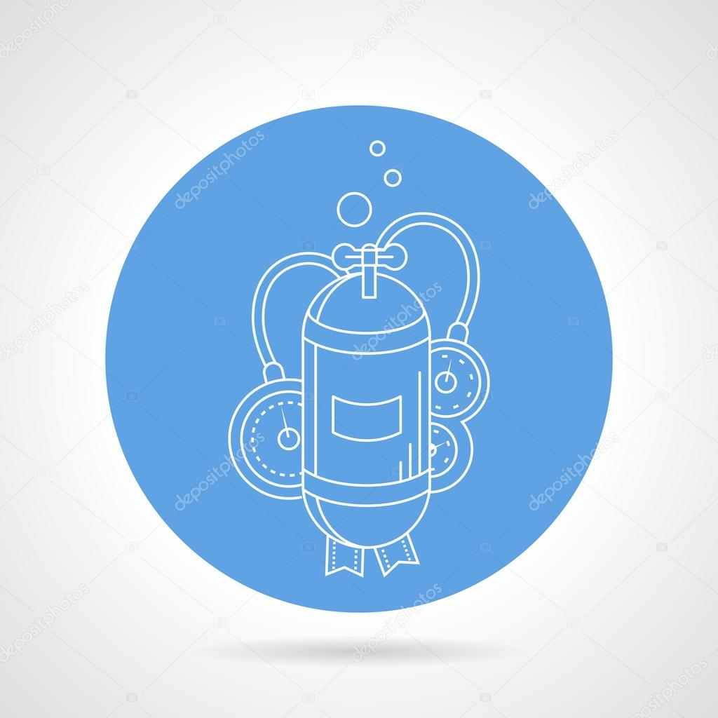 Aqualung cylinder round vector icon