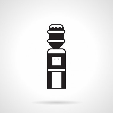 Black monochrome water cooler vector icon