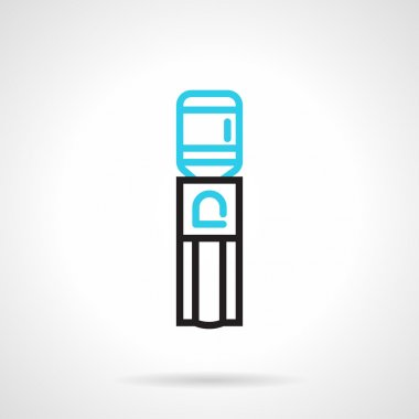 Water dispenser flat line vector icon