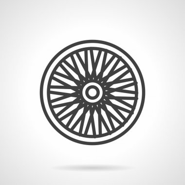 Bike wheel flat vector icon