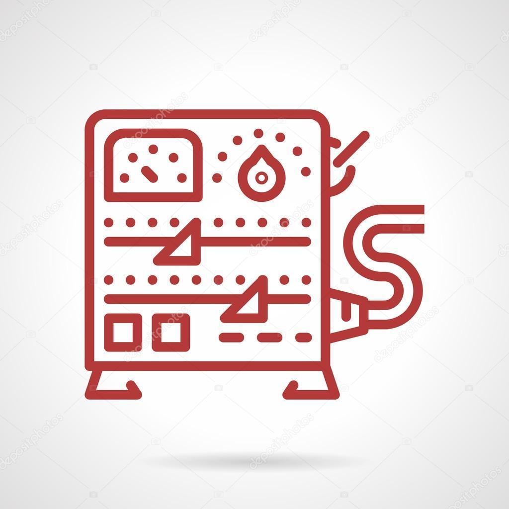 Stromversorgung Ausstattungslinie Vektor-Symbol — Stockvektor ...