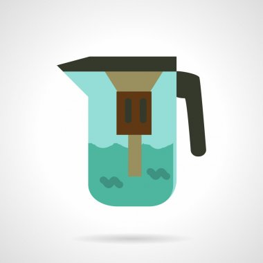 Water jug with filter.Vector icon