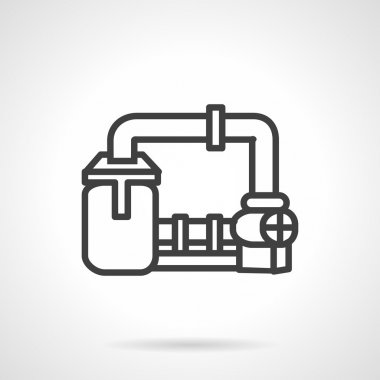 Gas transmission system vector icon