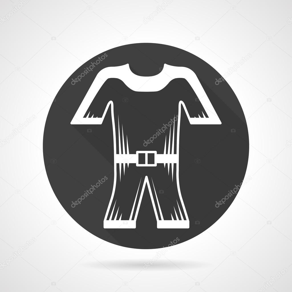 Wetsuit black round vector icon