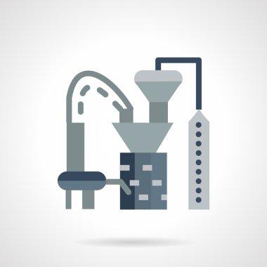 Plastics processing factory vector icon
