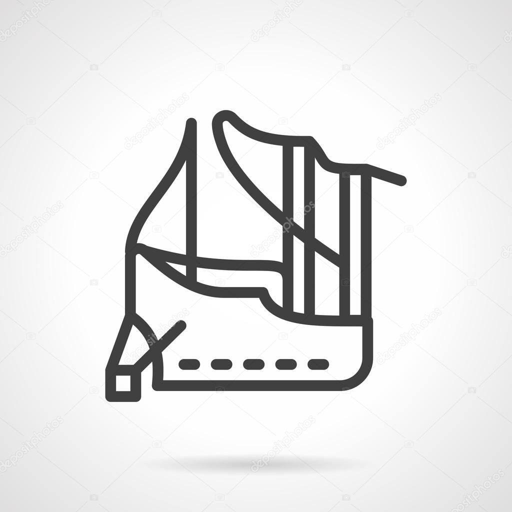 Abstract line vector icon for mooring