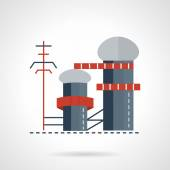 Photo Biomass power plant flat vector icon