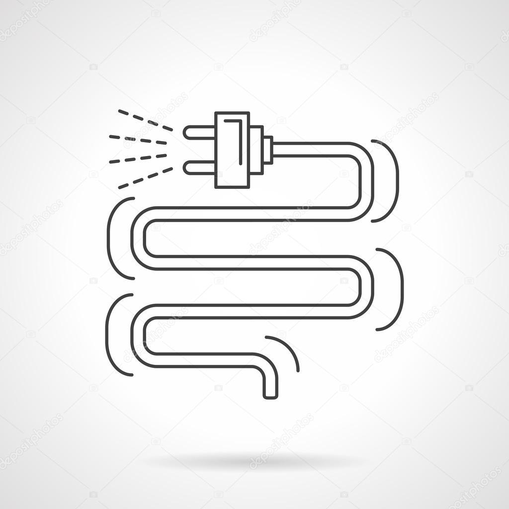Elektrischer Stecker Isoelektrisches Vektor-Symbol — Stockvektor ...