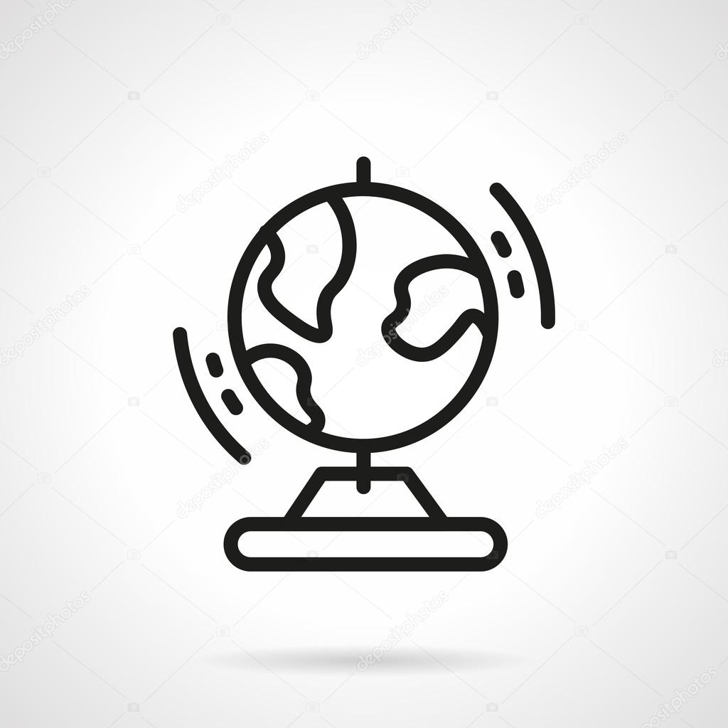 Simple Line Drawing Of Earth Wiring Diagrams Circuits Gt Traffic L30305 Nextgr Black Globe Vector Icon Stock Rh Depositphotos Com Easy