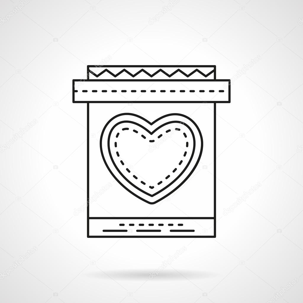Invitation card with heart flat line vector icon vetor de stock invitation card with heart flat line vector icon vetor de stock stopboris Images