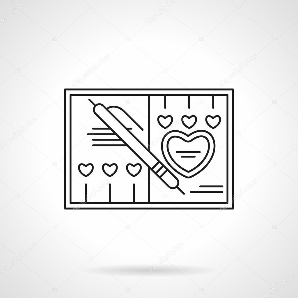 Wedding invitation flat line vector icon vetores de stock wedding invitation flat line vector icon vetores de stock stopboris Images