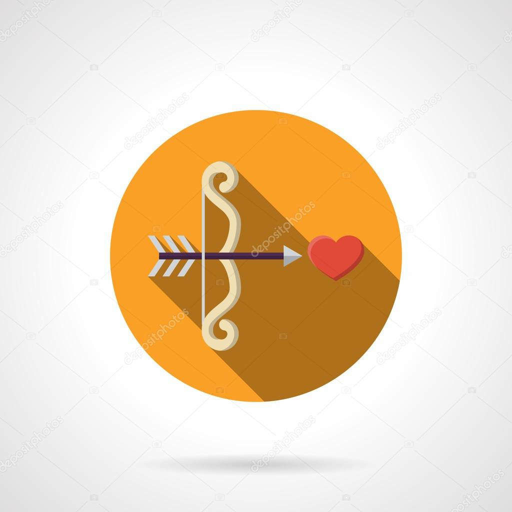 Love At First Sight Color Round Flat Vector Icon Stockvector