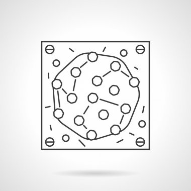 Microbe icon flat line design vector icon