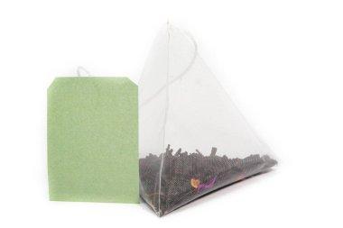 fruit tea bag on white background