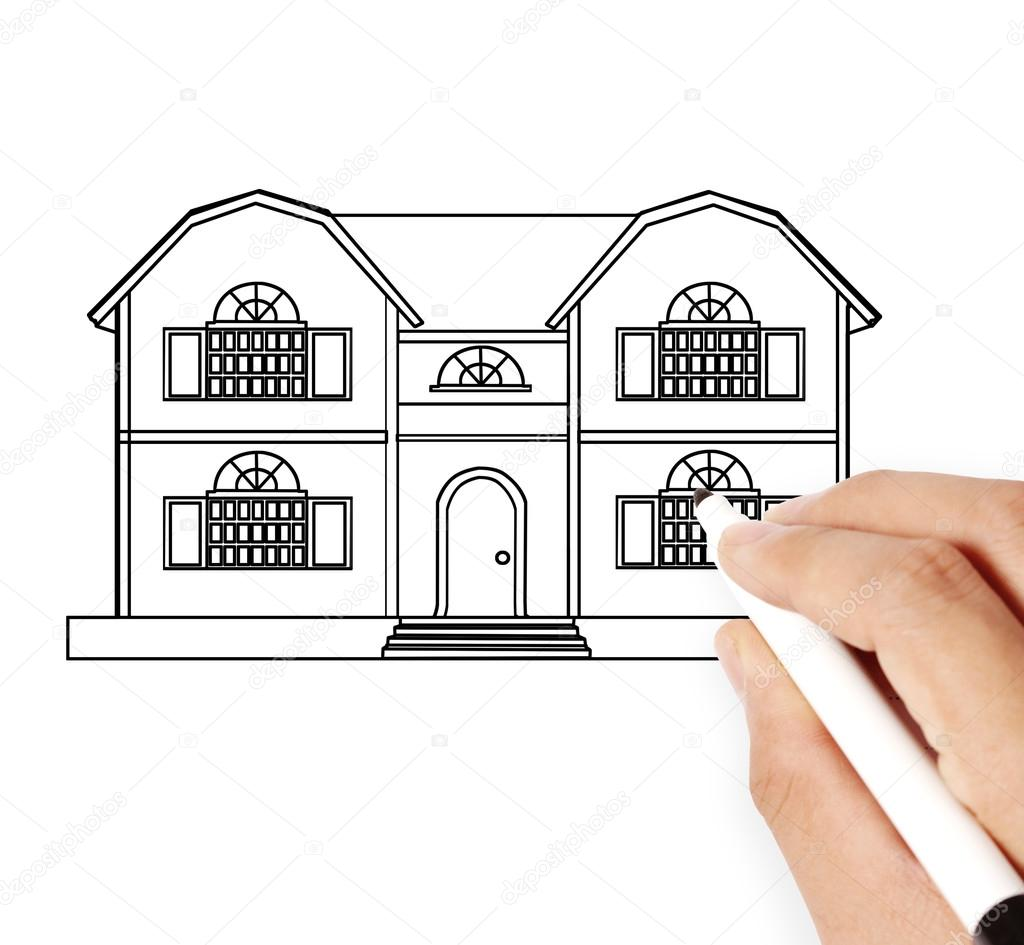 Hand Drawing House Model Stock Photo Aeydenphumi 79210762