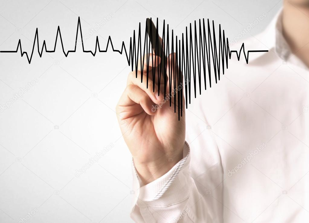 High Resolution Drawing Heartbeat Stock Photo C Aeydenphumi 81981572