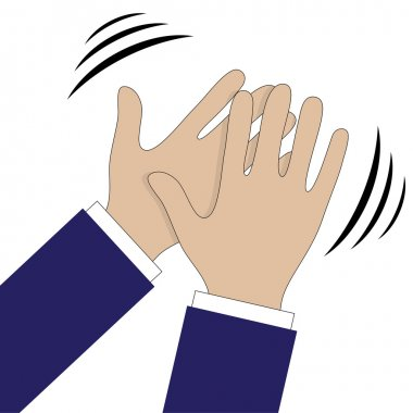 Hands clapping symbol. Vector icons for video, mobile apps, Web sites and print projects.