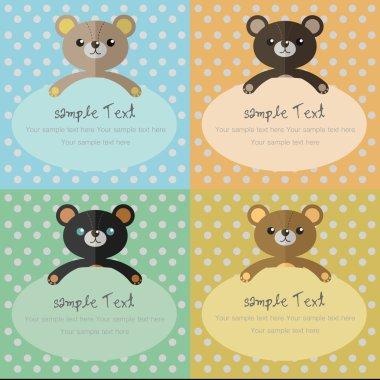 Bear card,Bear Background,Background- vector illustration.