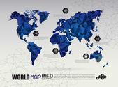 Fotografia Collegamento di mappa del mondo di vettore