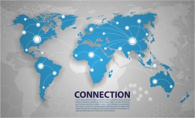 Vector world map connection stock vector