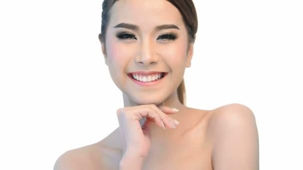 Krásná zdravá žena tvář pro krásu