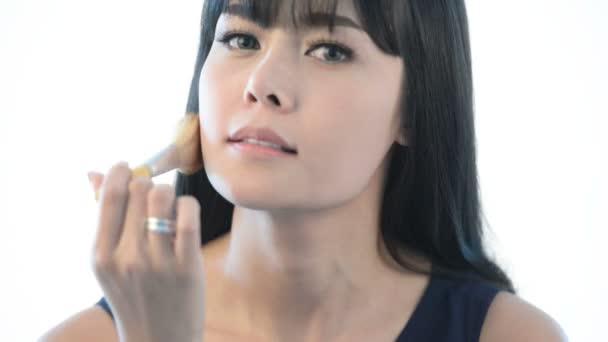Krásná mladá asijská žena, dívka krása, make-up, kosmetika