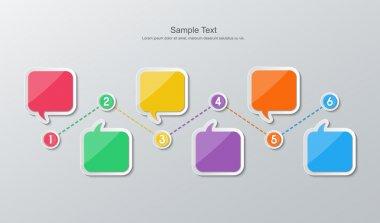 flat design timeline infographics
