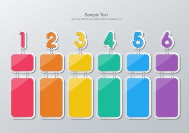 paper six step infographics