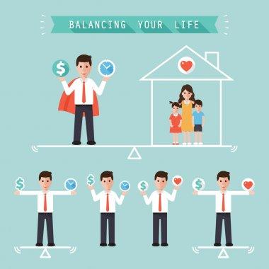 idea balancing your life business concept