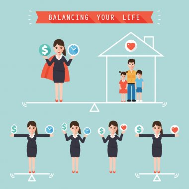 idea balancing your life business concept