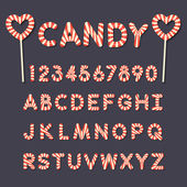 Photo candy lollipop alphabet letters and numbers