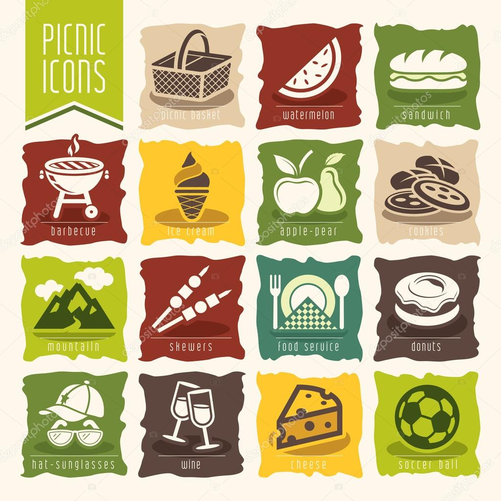 Picnic icon set