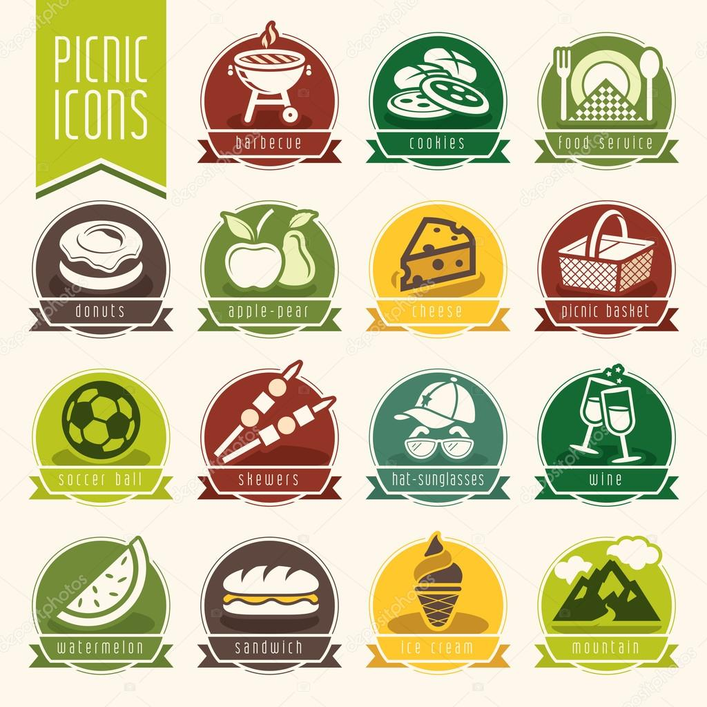 Picnic icon set
