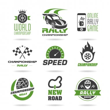 Rally icon set, sports icons - 3