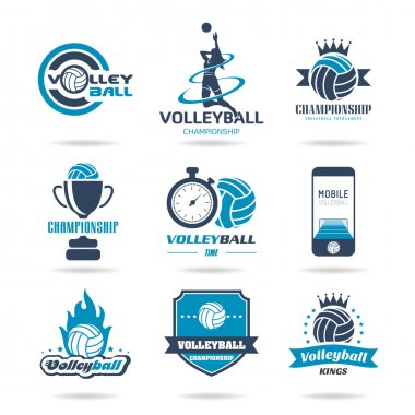 Volleyball icon set - 2