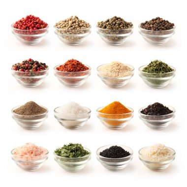 Spice set with clipping path