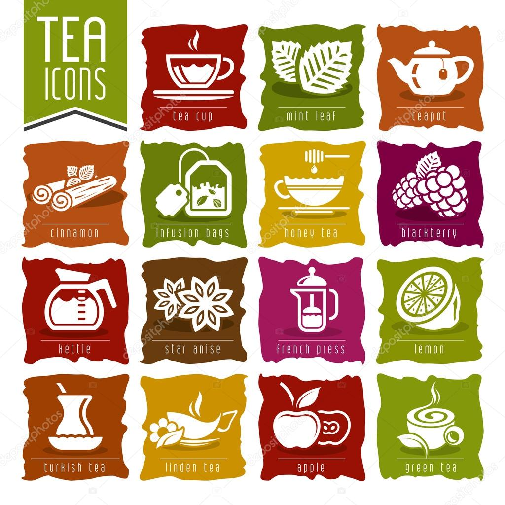 Tea icon set - 2