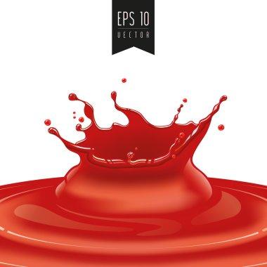 Splash of red fruit vector