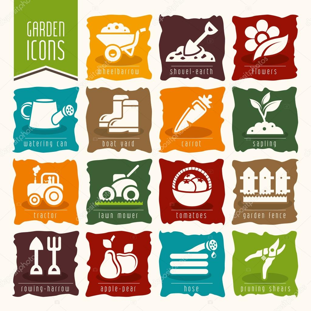 Garden - farm icon set