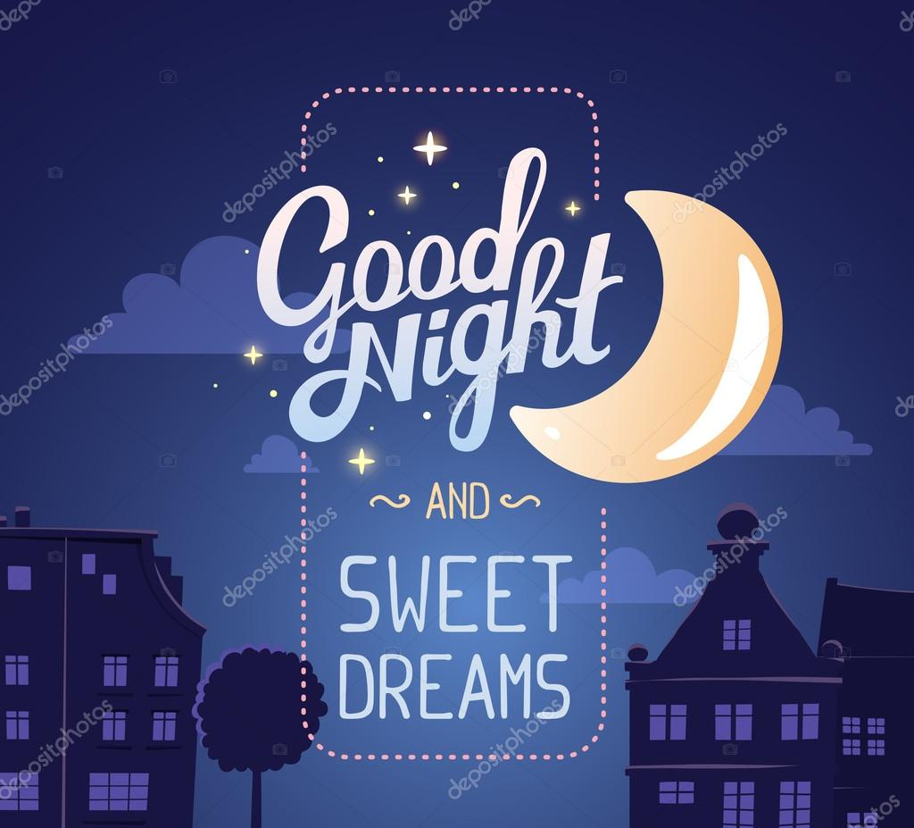 Illustration Of Wish Good Night And Sweet Dreams Stock Vector