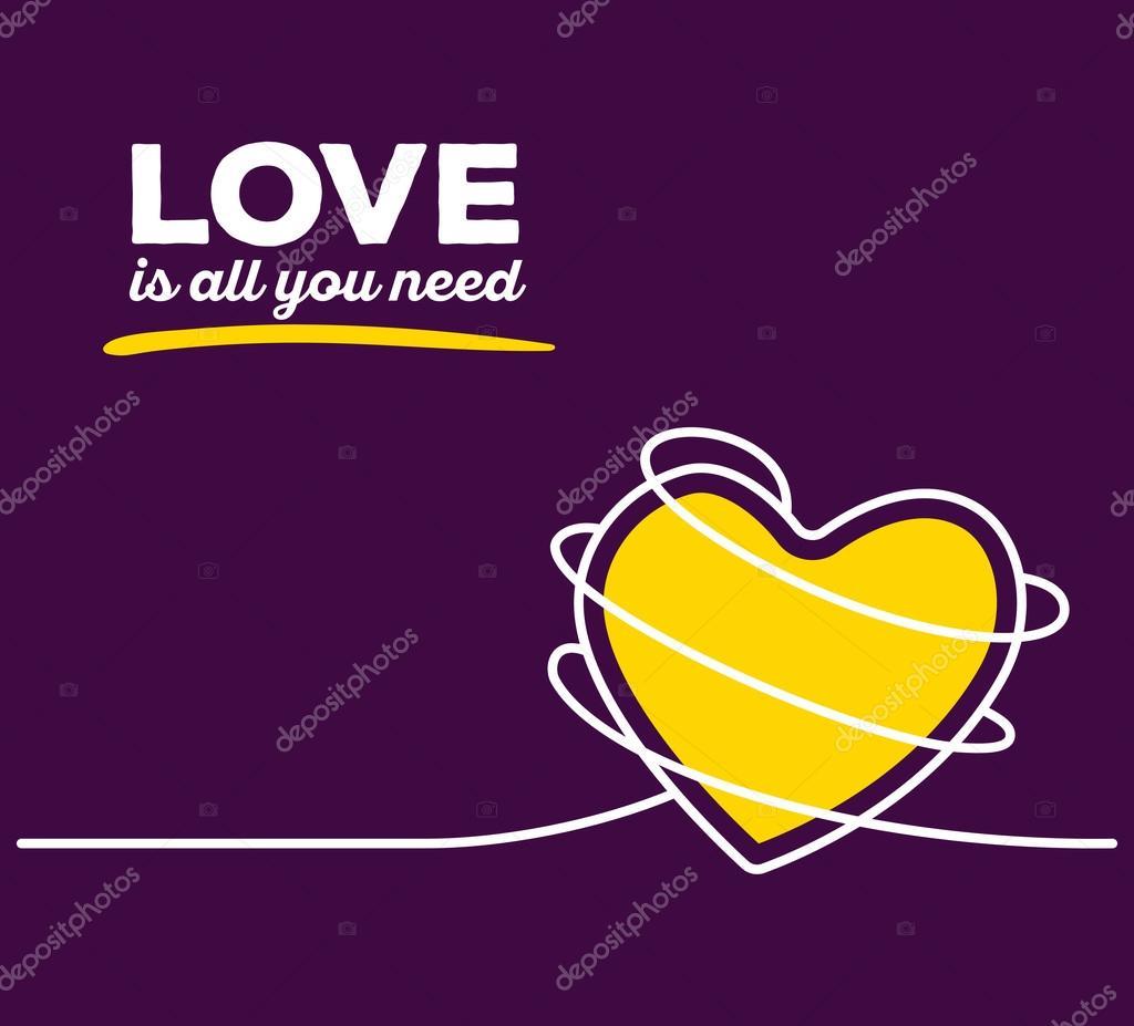 gelbes Herz mit weißen Draht — Stockvektor © wowomnom #107910930