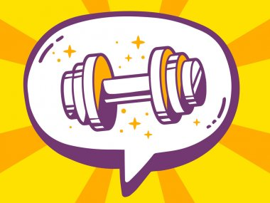 icon of dumbbell