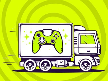 Truck and fast delivering joystick